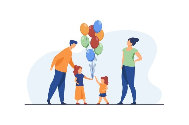 happy-parents-and-little-girls-with-air-balloons-birthday-daughter-mom-flat-vector-illustration-celebration-and-holiday_74855-13118